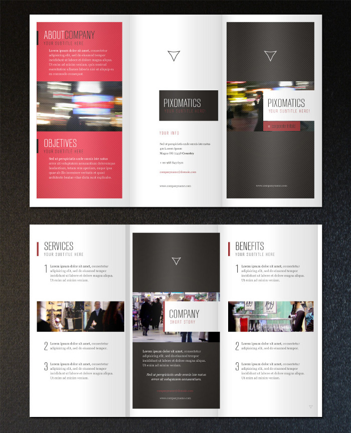Tri Fold Brochures Templates Free Zrom