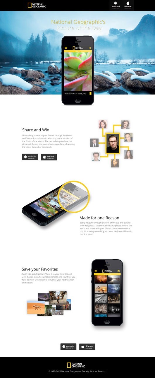 Mobile App Landing Pages