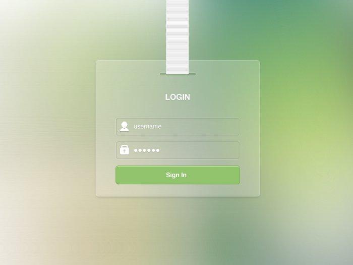 Login Forms Templates Login Form Template