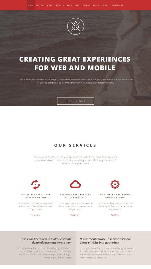 Single-Page WordPress Portfolio Themes