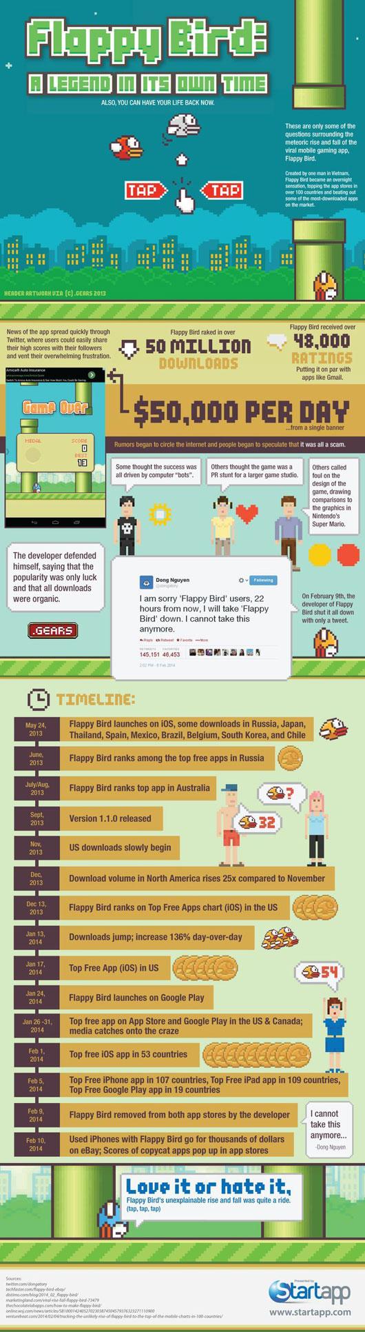 Flappy Bird Infographic