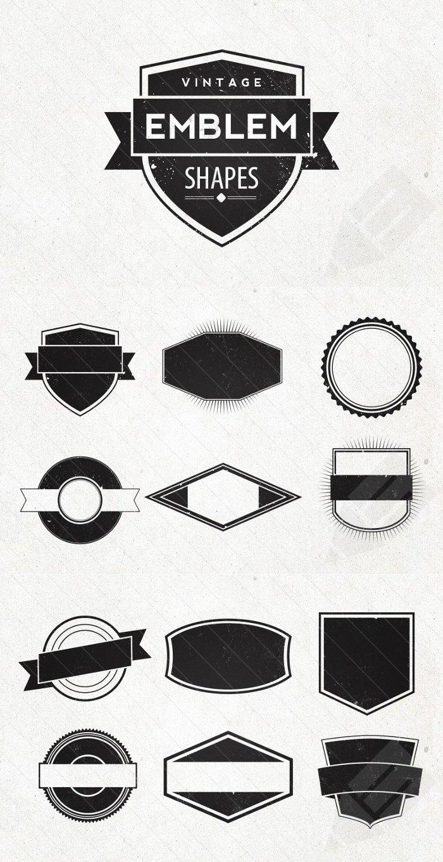 Vintage Logo Shapes Im...