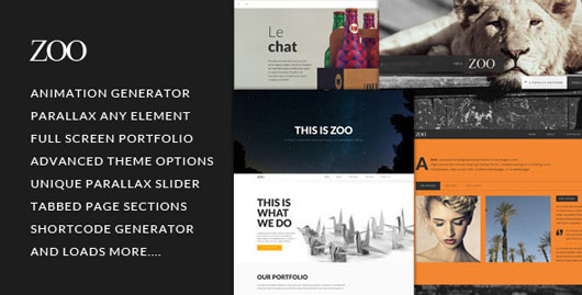 Parallax WordPress Portfolio Themes