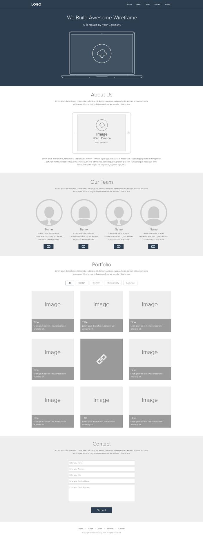 Free website wireframe design tool