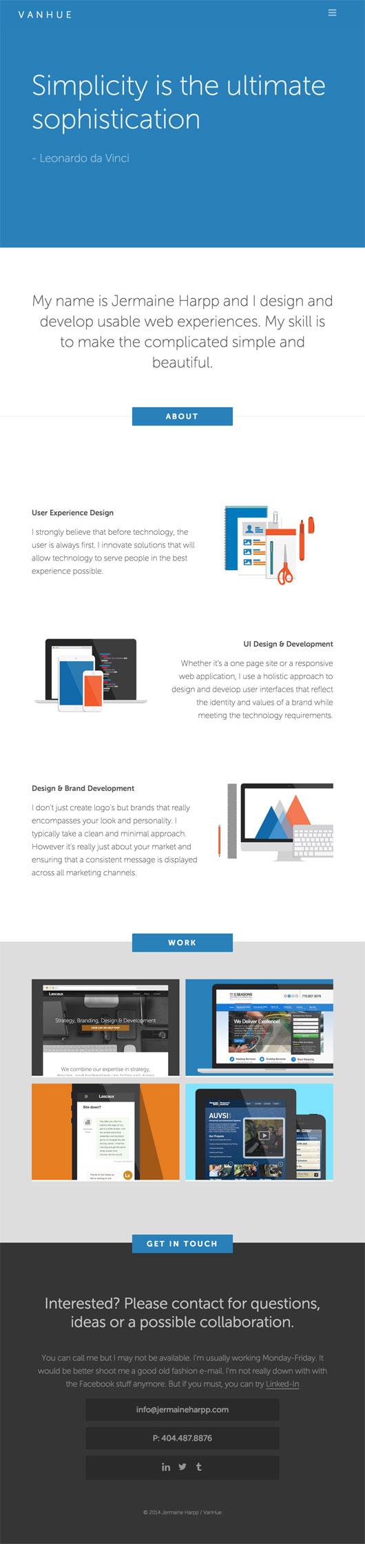Flat Portfolio Websites