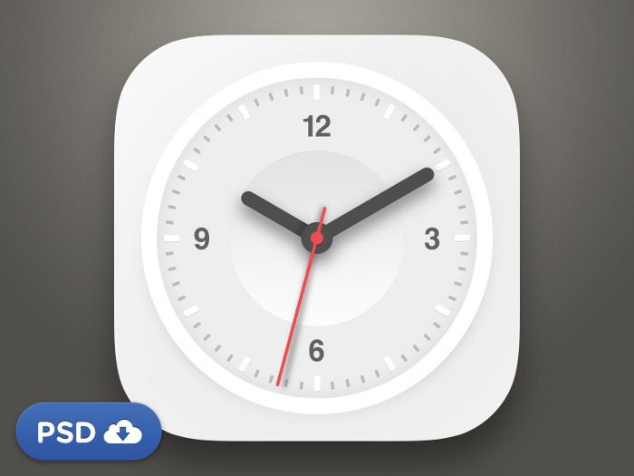 Clock Psd Free Download Free-psd-flat-clock