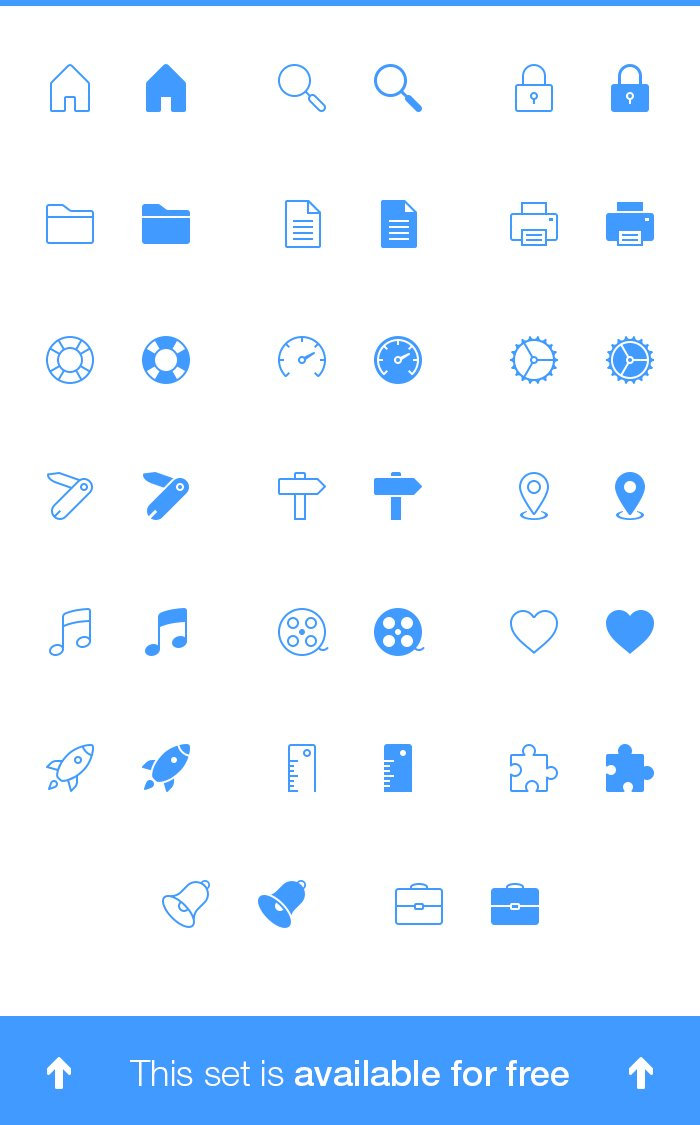 Psd Icon Sets a Set of 40 Tab Bar Icons