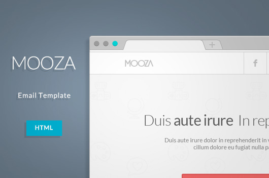 Free Mooza HTML Email Newsletter