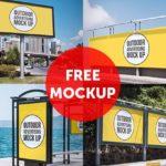 Free PSD Outdoor Advertising Mockup