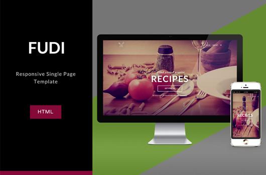 Free HTML Fudi Landing Page