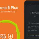 Free iPhone 6 Plus PSD Mockup