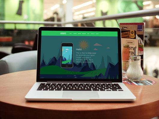 Free HTML App Landing Page