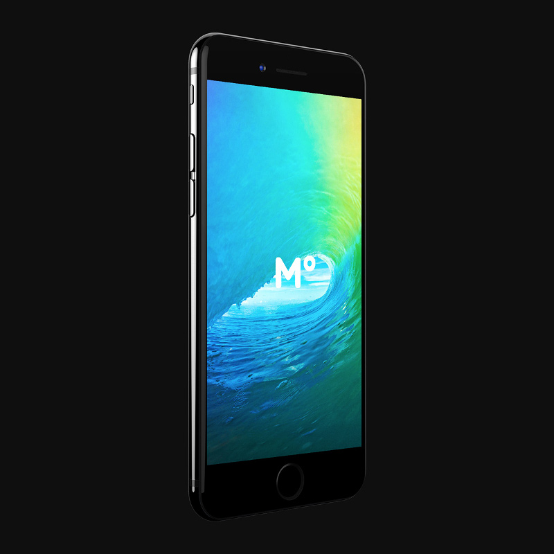 FREE iPhone 7 Jet Black mockup by 360 Mockups