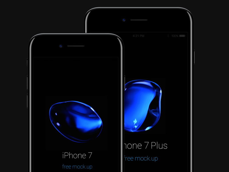 Free iPhone 7 Psd Jet Black Mockup by Pixeden