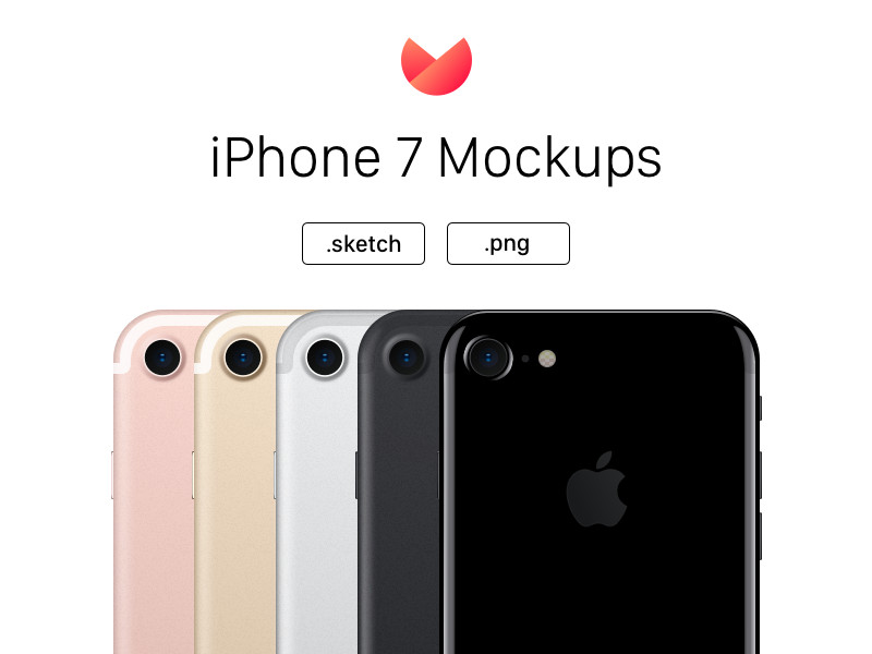 iPhone 7 Mockups - All Colors by Cagri Yurtbasi