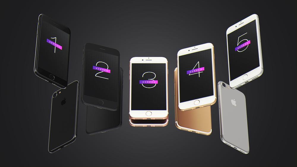 Free iPhone 7 UI Mockup PSD by mysuperproject
