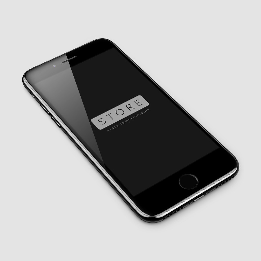 iPhone 7 Jet Black Free Mockup [PSD] by Ramotion