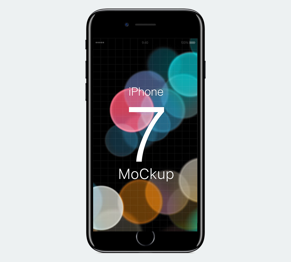 IPhone 7 Free Mockup for Photoshop by Samat Odedara