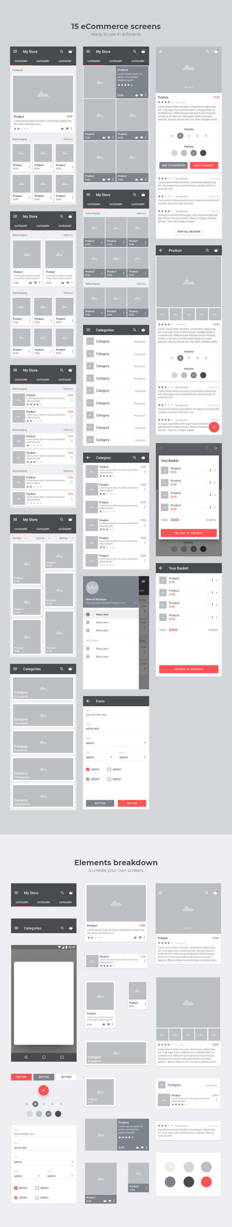 Free Carbon Material Wireframe Kit