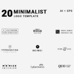 20 Minimal Vector Logo Templates (AI, EPS)