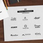 10 Minimal Typography Logos Bundle (AI, EPS)