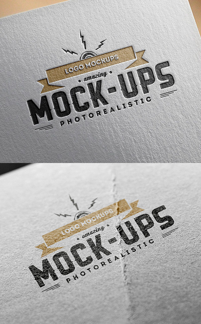 Free Logo MockUps Paper Edition