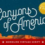Canyons Vintage Script – Free Font