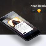 News Reader iOS App Template (.Sketch)