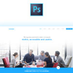 Cobrainer Landing Page PSD Template