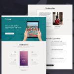Victoria Landing Page PSD Template