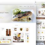 Free Food Product Page Web Template (PSD)