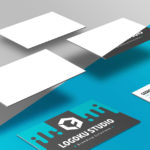 Floating Business Card Mockup (5 Scenes, PSD)