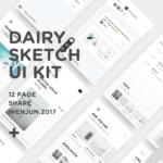 Dairy UI Kit (Sketch)