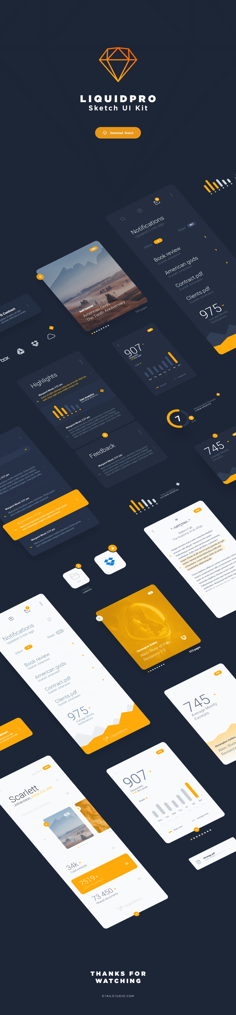 Free LiquidPro UI Kit for Sketch