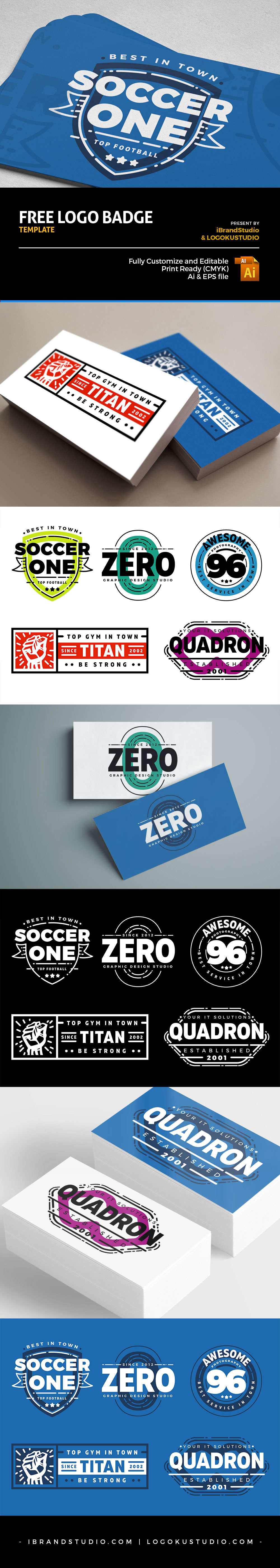 Free Retro Logo Badges