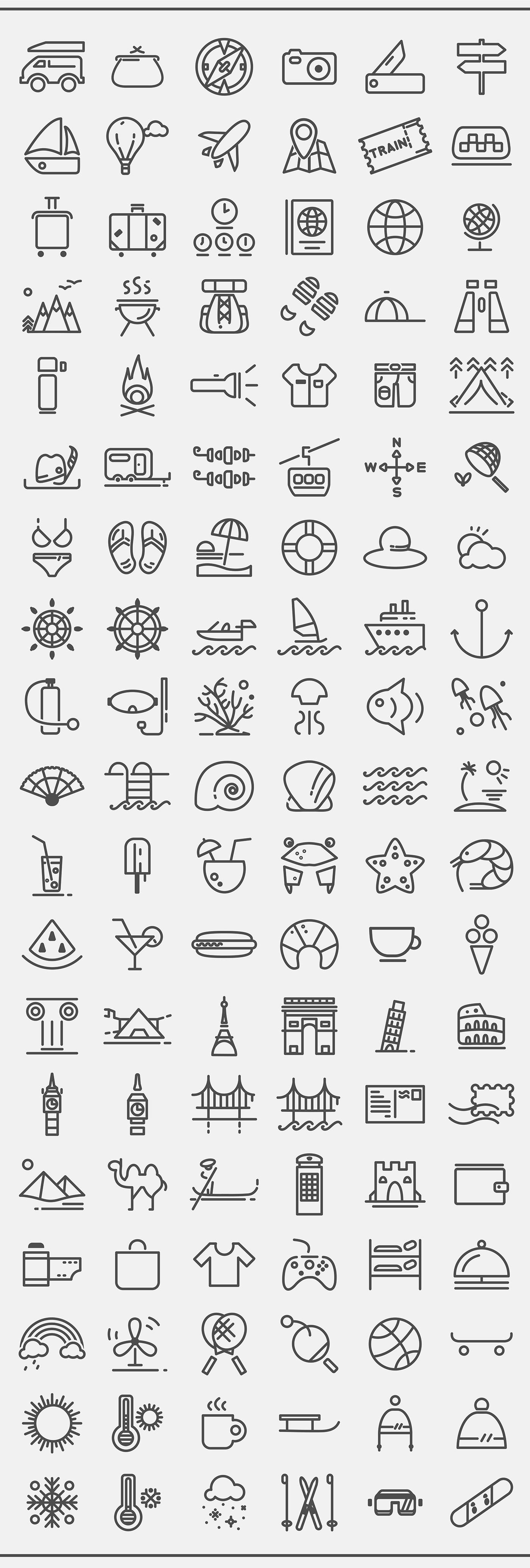 Free Travelling Icon Set