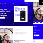 Free Designer One Page Portfolio