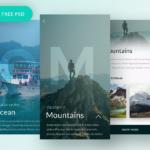 Free Travel App Screen (PSD)