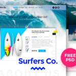 Surfers Co. FREE PSD Template