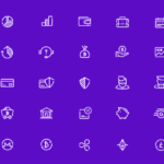 A Set of 48 Free Fintech Vector Icons