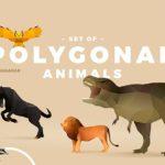 Free Polygonal Animals Set (AI, EPS, PNG, JPG)