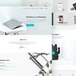 Piroll Minimal Portfolio Website PSD Template