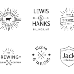 6 Free Retro Logo Template Vol. 1 (AI)