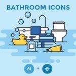 Free Bathroom Icon Set (12 Icons, AI, Sketch)