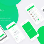 Free Doctor Mobile App PSD Template