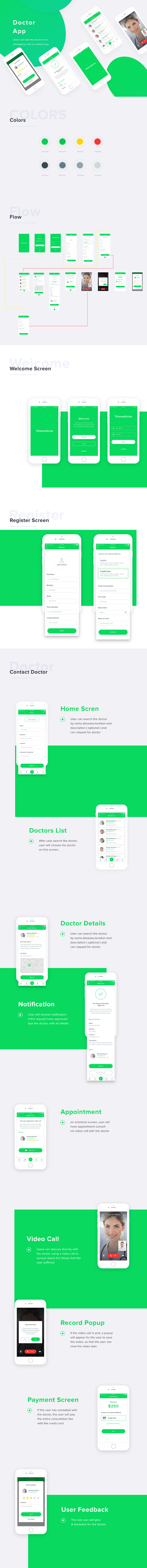 Free Doctor Mobile App PSD