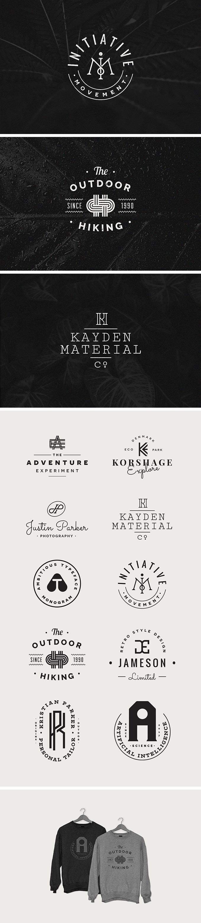 Free Monogram Logo Templates