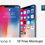 iPhone X – 10 Free  PSD Mockups
