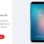 Free Samsung Galaxy S8 Vector (AI, EPS)