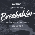 Breakable Free Typeface